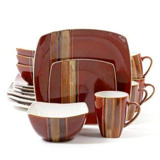 Gibson Regent Classic Red 16-Piece Dinnerware Set