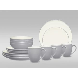 Noritake Colorwave Slate Coupe 16-Piece Dinnerware Set