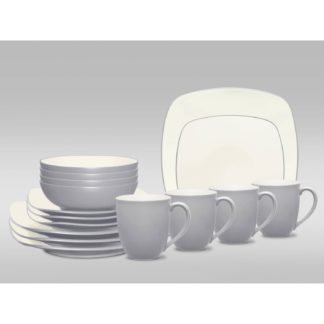 Noritake Colorwave Slate Square 16-Piece Dinnerware Set