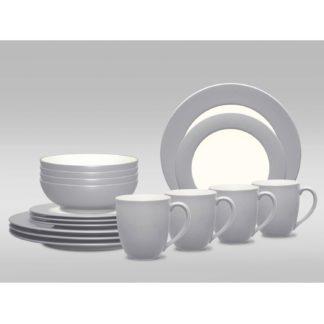 Noritake Colorwave Slate Rim 16-Piece Dinnerware Set