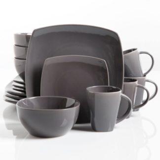 Gibson Soho Lounge Gray 16-Piece Dinnerware Set