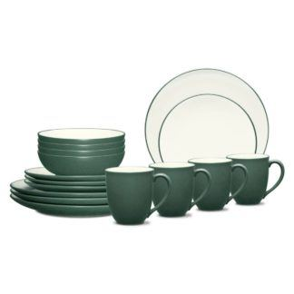 Noritake Colorwave Spruce Coupe 16-Piece Dinnerware Set