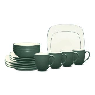 Noritake Colorwave Spruce Square 16-Piece Dinnerware Set