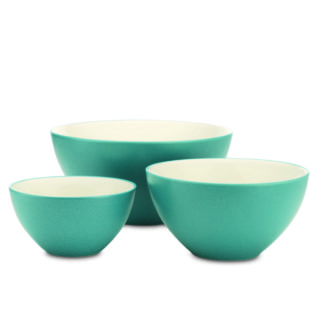 Noritake Colorwave Turquoise Set of 3 Bowls