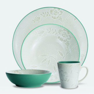Noritake Colorwave Turquoise Bloom 4-Piece Place Setting