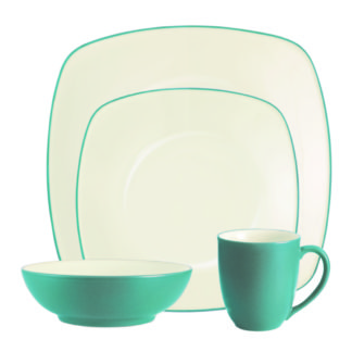 Noritake Colorwave Turquoise Square 4-Piece Place Settings
