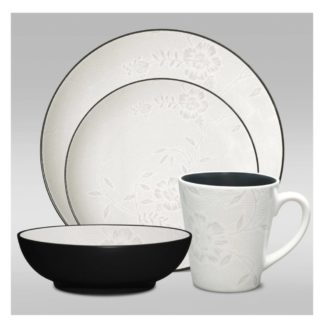 Noritake Colorwave Bloom Graphite Coupe 4-Piece Place Setting