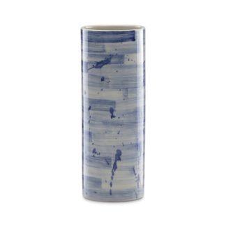 Lenox Painted Indigo Stripe Cylinder Vase