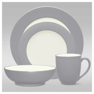 Noritake Colorwave Slate Rim 4-Piece Place Setting