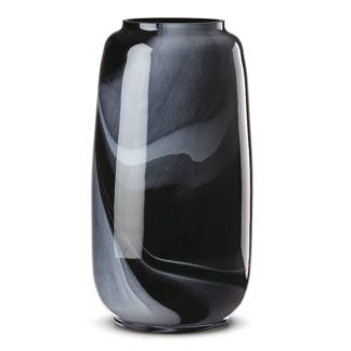 Lenox Brinton Black Glass Large Vase