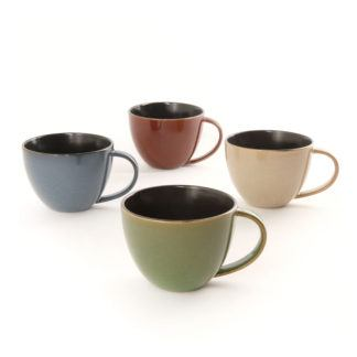 Gibson Elite Earthly Jewels Latte Mugs