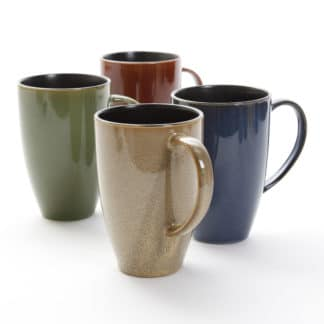 Gibson Earthly Jewels 17.5 Ounce Mugs