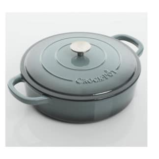Crock-Pot® Artisan 5 Qt Enameled Round Cast Iron Braiser, Slate