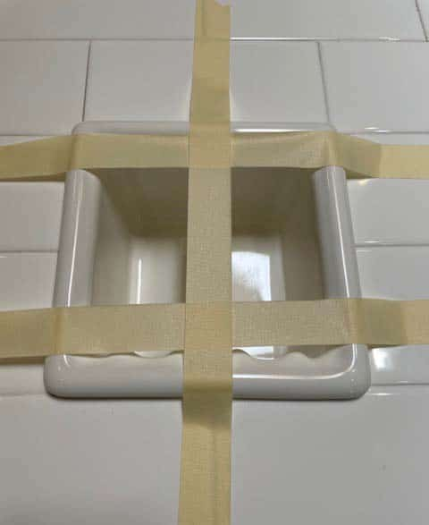 Recessed Ceramic Soap Dish Installation