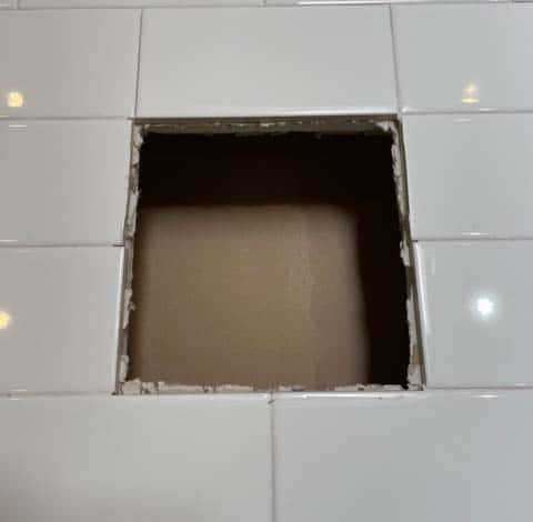 Vintage Ceramic Recessed Bathroom Accessory Installation