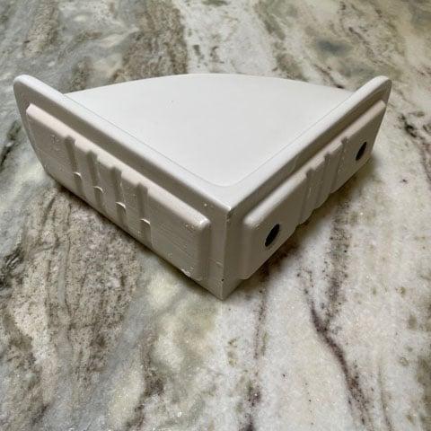Lenape Matte White Ceramic Corner Caddie