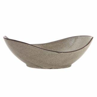"""Fortessa STON Mist Oval Porcelain Serving Bowl -12.25"""" 32 Ounces"""
