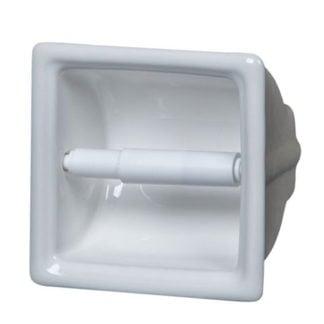Apple Creek White Ceramic Recessed Toilet Paper Holder