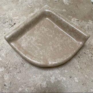 Apple Creek Ceramic Shower Corner Shelf Dark Stone