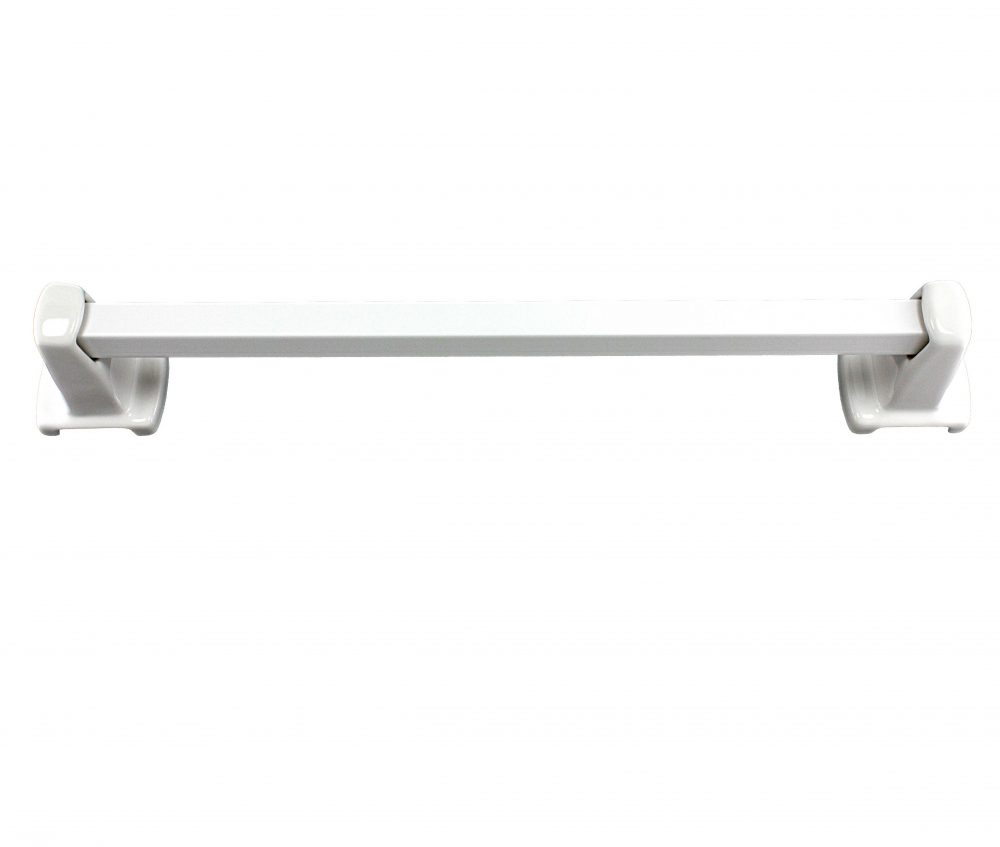 Lenape 18-Inch White Ceramic Towel Bar