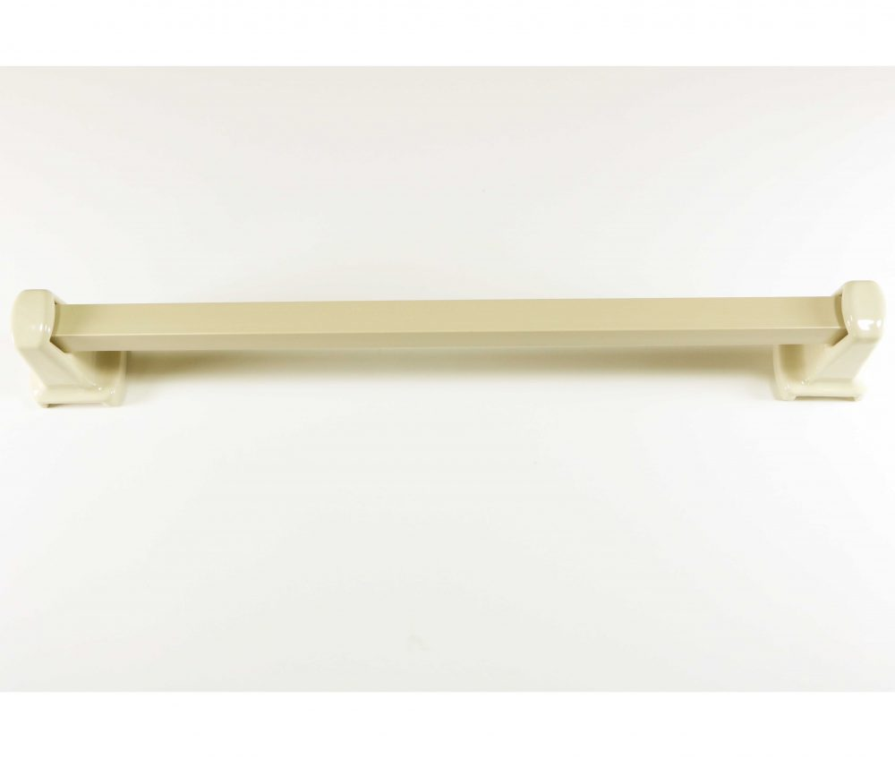 Lenape Carrousel 18 Inch Bone Ceramic Towel Bar Plum
