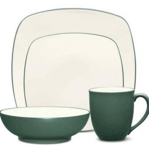 Noritake Colorwave Spruce Square Four Piece Place Setting