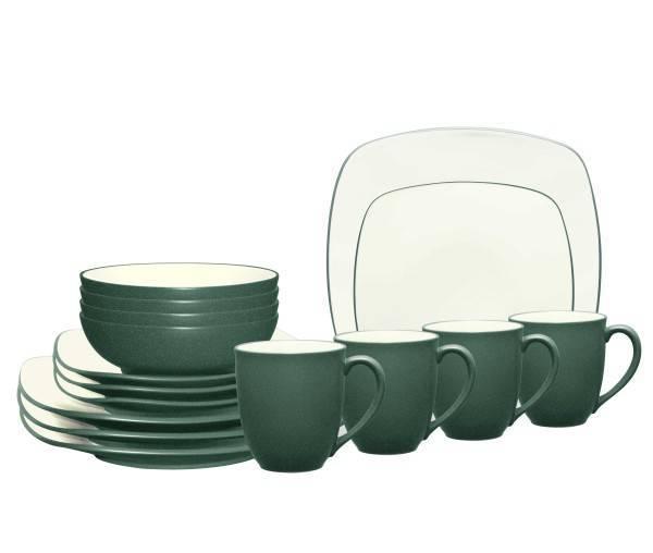 Noritake® Colorwave Spruce Square 16-Piece Dinnerware Set  sc 1 st  Plum Street Pottery & Noritake Colorwave Spruce Square Dinnerware Set | Plum Street Pottery