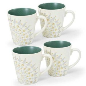 Noritake Colorwave Spruce Holiday Mugs
