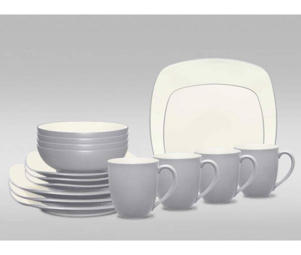 Noritake-Colorwave-Slate-Square-Dinnerware-Set | Plum Street Pottery