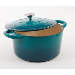 Crock Pot Artisan 5 Quart Teal Enameled Dutch Oven