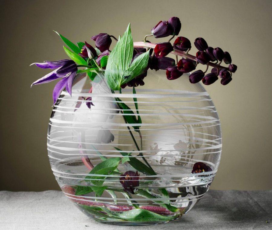Orrefors Organic Medium Round Vase Plum Street Pottery