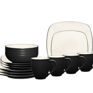Noritake Colorwave Graphite Square Dinnerware Set
