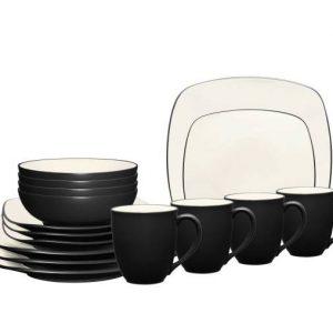 Noritake Colorwave Graphite Square Dinnerware Set
