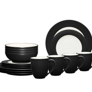 Noritake Colorwave Graphite Rim Dinnerware Set