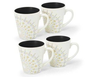 Noritake Colorwave Graphite Holiday Accent Mugs