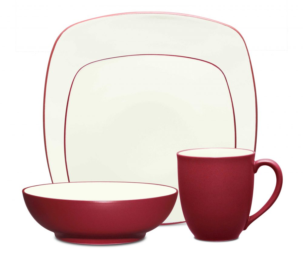 Noritake Colorwave Raspberry Square Dinnerware Set