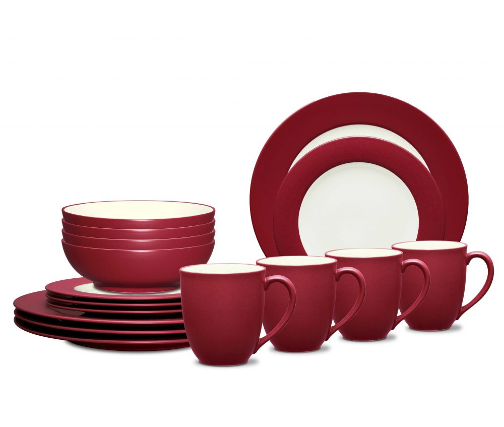 Noritake Colorwave Raspberry Dinnerware Set