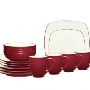 Noritake Colorwave Raspberry Square Dinnerware Set