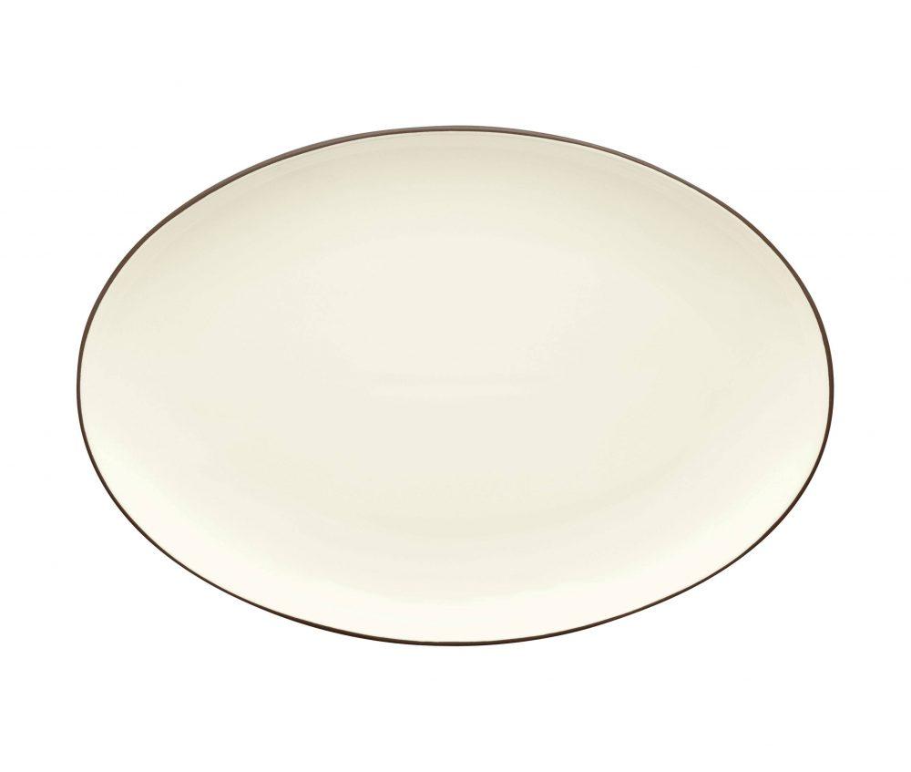 Noritake Colorwave Chocolate Oval Serving Platter Plum