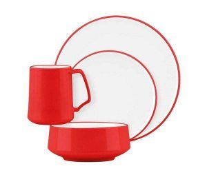 Dansk Kobenstyle Chili Red 4-Piece Place Setting