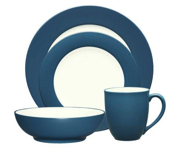 Noritake Colorwave Blue Rim Dinnerware Collection Plum