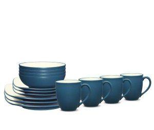 Noritake Colorwave Blue Square Dinnerware Set