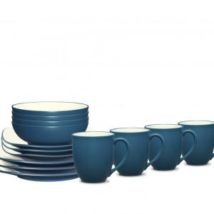 Noritake Colorwave Blue Square Dinnerware Set