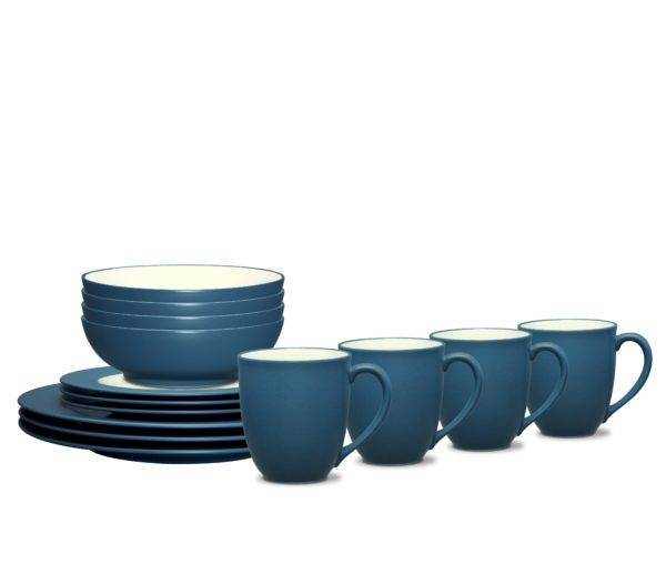 Noritake Colorwave Blue Rim Dinnerware Set