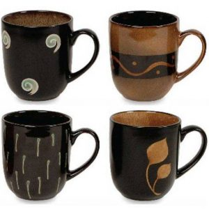 Gibson Allegory Coffee Mugs Set of Four
