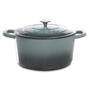 Crock Pot Artisan 5 Quart Gray Enameled Dutch Oven