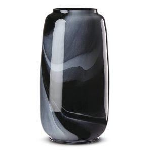 Lenox Brinton Large Black Glass Vase
