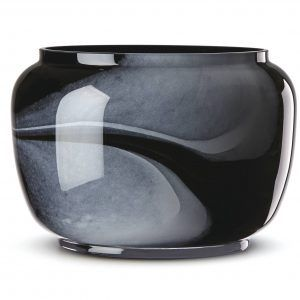 Lenox Brinton Black Glass Bowl