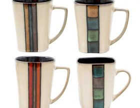 Gibson Cafe Melange Coffee Mugs 14 Ounces Set of Four