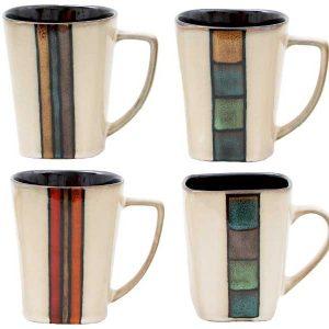Gibson Cafe Melange Coffee Mugs 14 Ounces Set of Four